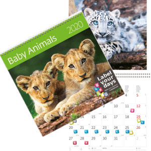 Calendrier mural Baby Animals 2020