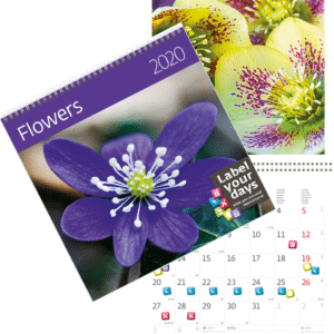 Calendrier mural Flowers 2020