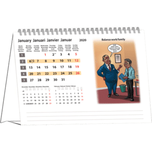 Calendrier chevalet Cartoon 2020 Janvier