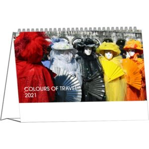 Calendrier de bureau Colours of Travel 2021