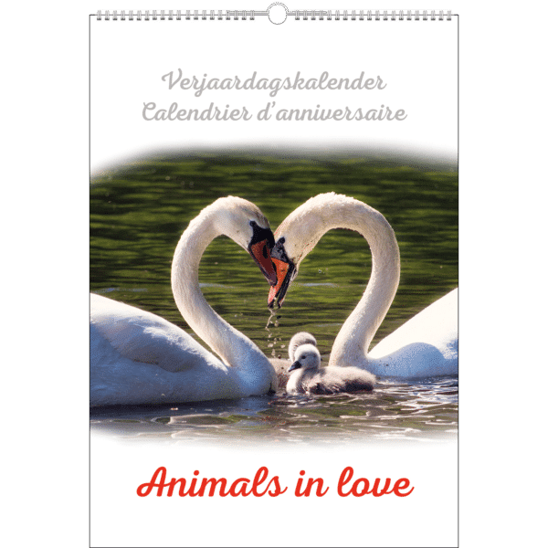 Calendrier d'anniversaire 'Animals in Love'