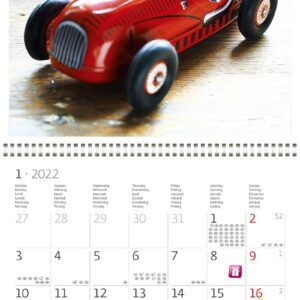 Calendrier mural Toys 2022 Janvier