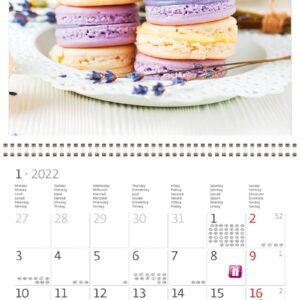Calendrier mural Provence 2022 Janvier