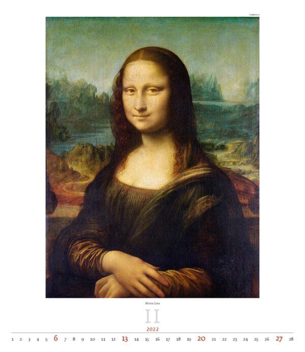 Calendrier Art Leonardo da Vinci 2022 Février