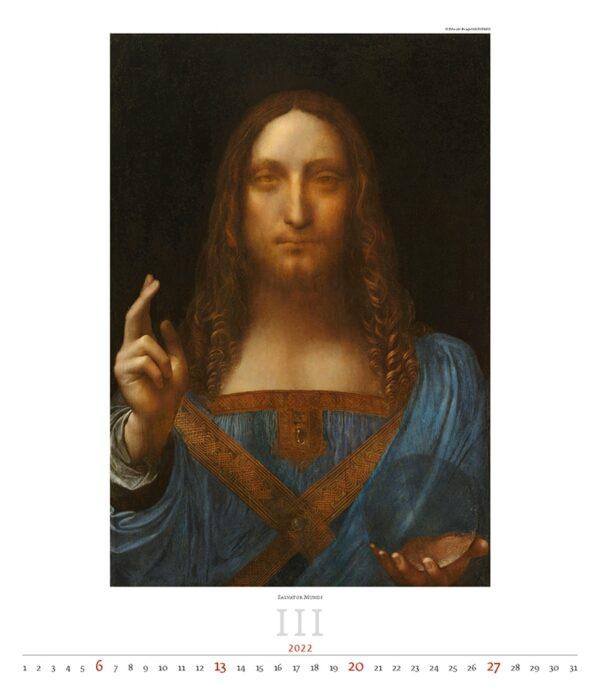 Calendrier Art Leonardo da Vinci 2022 Mars