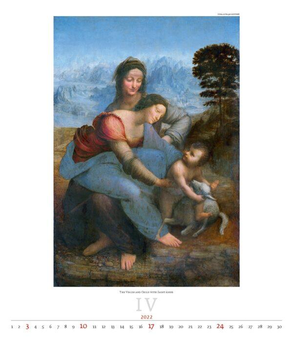 Calendrier Art Leonardo da Vinci 2022 Avril