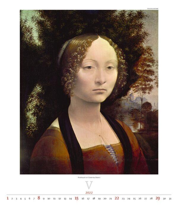 Calendrier Art Leonardo da Vinci 2022 Mai