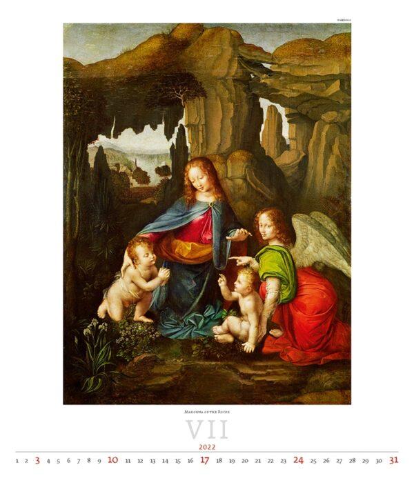 Calendrier Art Leonardo da Vinci 2022 Juillet