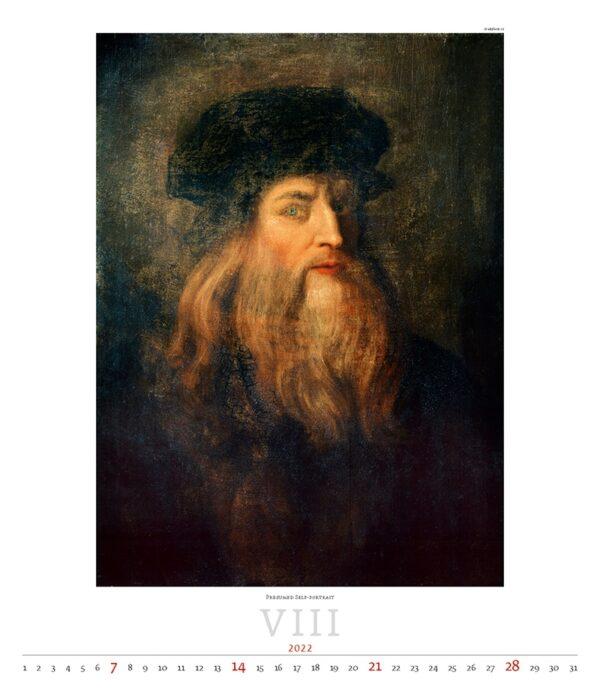Calendrier Art Leonardo da Vinci 2022 Août