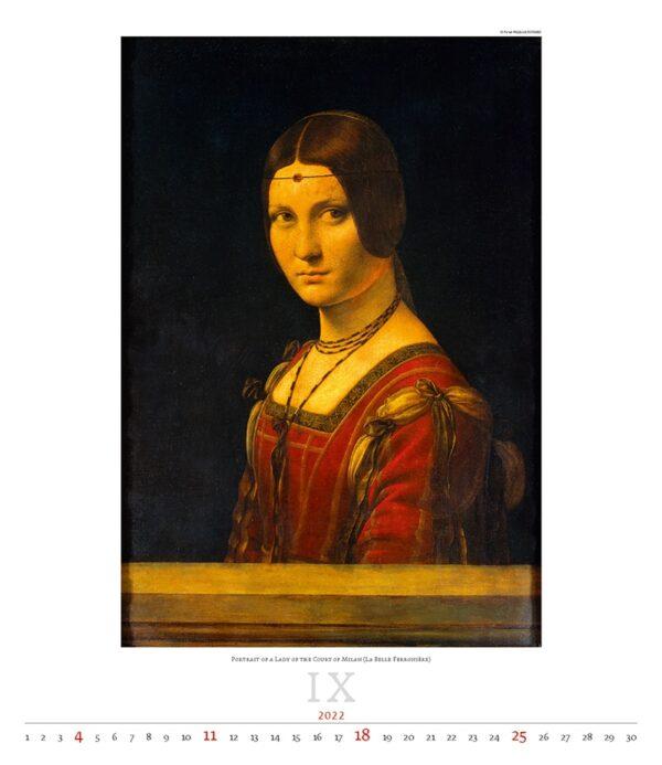 Calendrier Art Leonardo da Vinci 2022 Septembre
