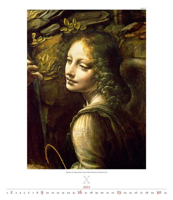Calendrier Art Leonardo da Vinci 2022 Octobre
