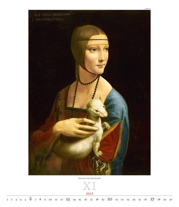 Calendrier Art Leonardo da Vinci 2022 Novembre