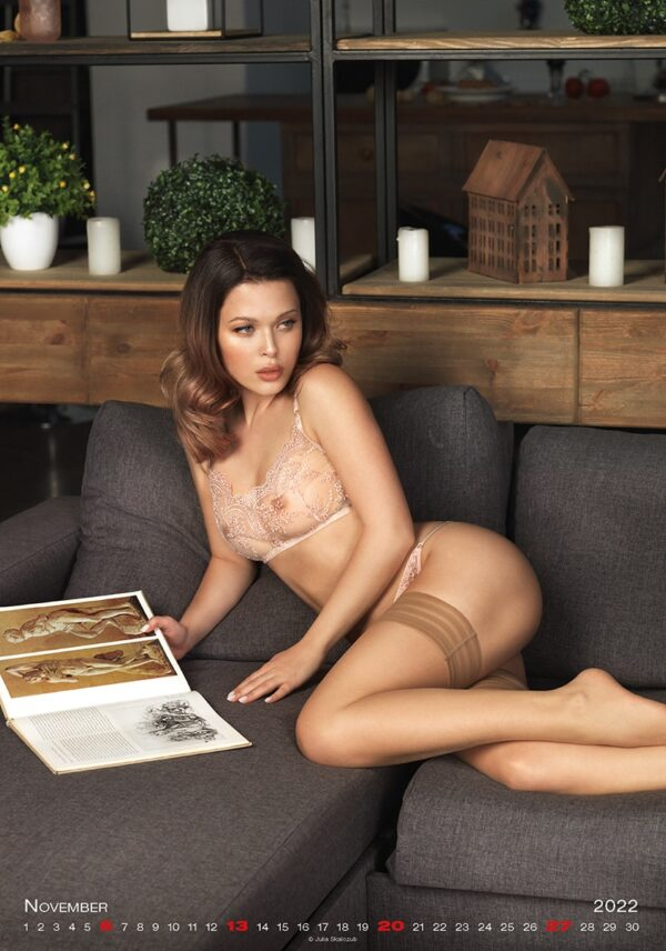 Calendrier mural pinup Girls Exclusive 2022 Novembre