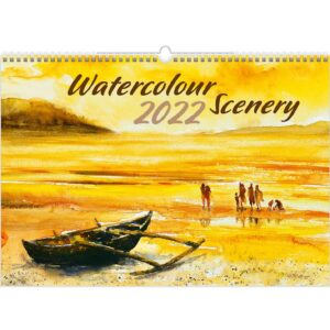 Calendrier mural Watercolour Scenery 2022