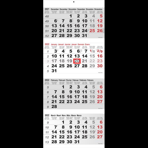 Calendrier 4 mois Maxi gris 2022