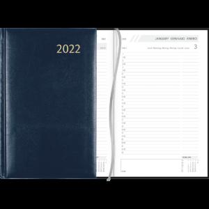 Agenda Daily relié 2022 bleu