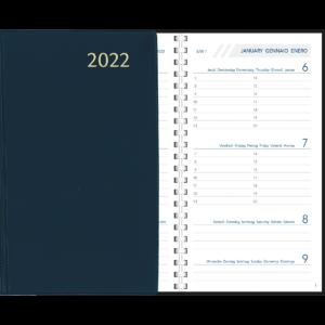 Agenda Visuplan spirale 2022 Bleu