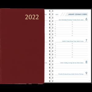 Agenda Visuplan spirale 2022 Bordeaux