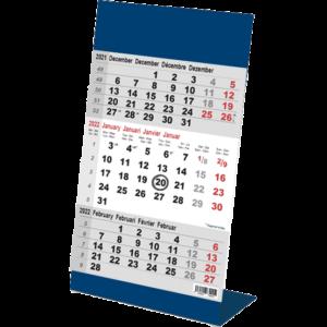 Calendrier de bureau 3 mois Color bleu 2022