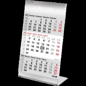 Calendrier de bureau 3 mois Steel 2022