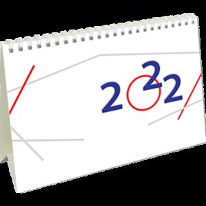 Calendrier de bureau International 2022 Page de garde