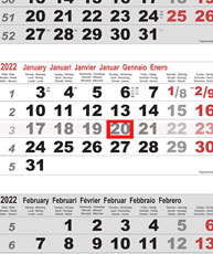 Calendriers 3/4/5 mois